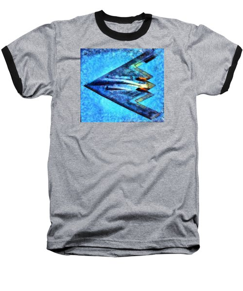 Baseball T-Shirt featuring the painting The B-53bomber by Mario Carini