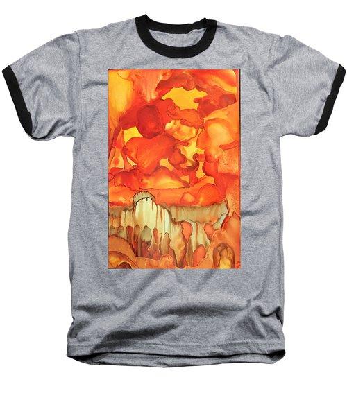 The Ball Of Fire Explodes Baseball T-Shirt