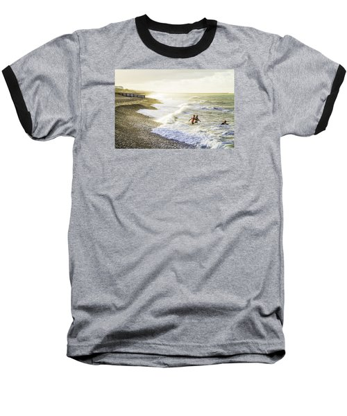 Baseball T-Shirt featuring the photograph The Bathers by Russell Styles