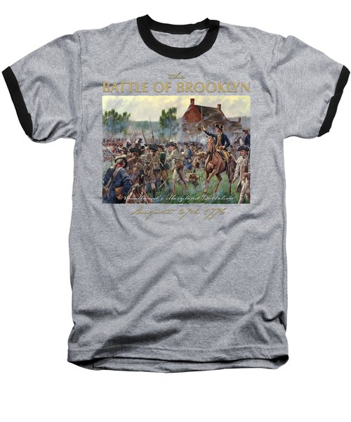 The Battle Of Brooklyn Baseball T-Shirt by Mark Maritato