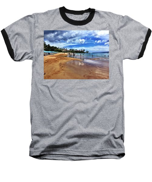 The Beach 2 Baseball T-Shirt by Michael Albright