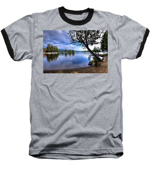 Baseball T-Shirt featuring the photograph The Beach At Covewood Lodge by David Patterson