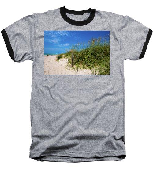 Baseball T-Shirt featuring the photograph The Beach At Pine Knoll Shores by John Harding