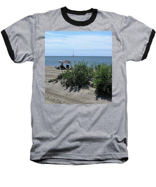 The Beach Baseball T-Shirt by John Scates