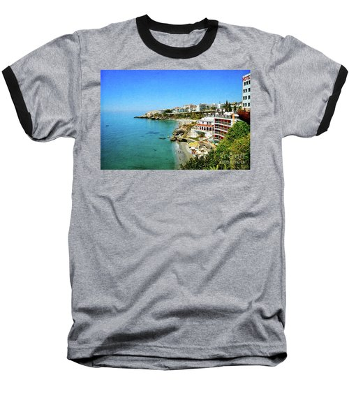 Baseball T-Shirt featuring the photograph The Beach - Nerja Spain by Mary Machare