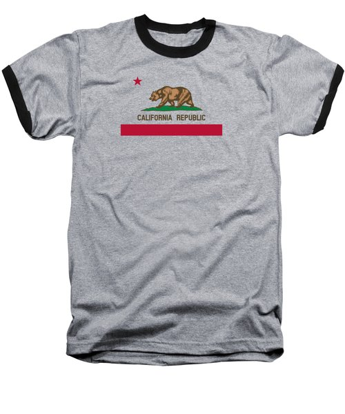 The Bear Flag - State Of California Baseball T-Shirt by War Is Hell Store