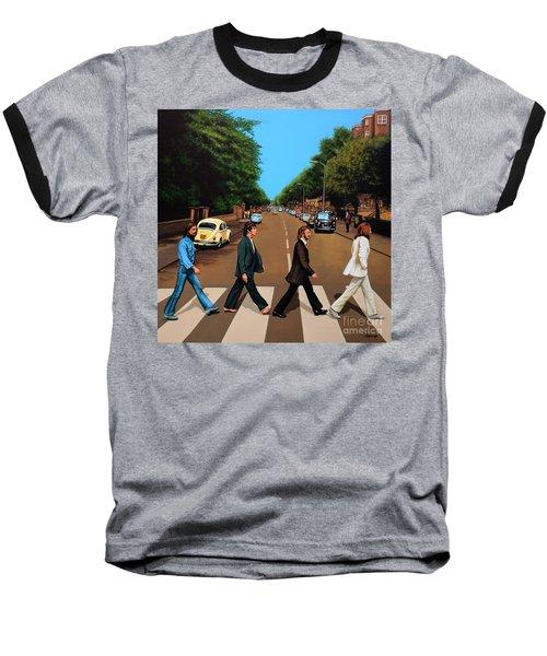 The Beatles Abbey Road Baseball T-Shirt by Paul Meijering