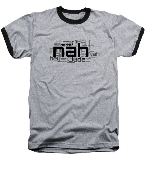 The Beatles - Hey Jude Lyrical Cloud Baseball T-Shirt