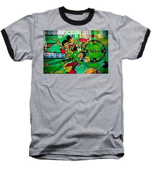 The Beatles - Pinball Art Baseball T-Shirt