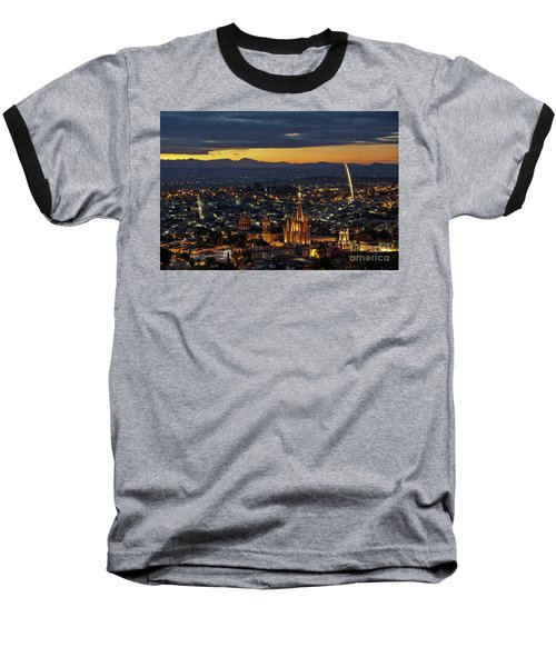 The Beautiful Spanish Colonial City Of San Miguel De Allende, Mexico Baseball T-Shirt