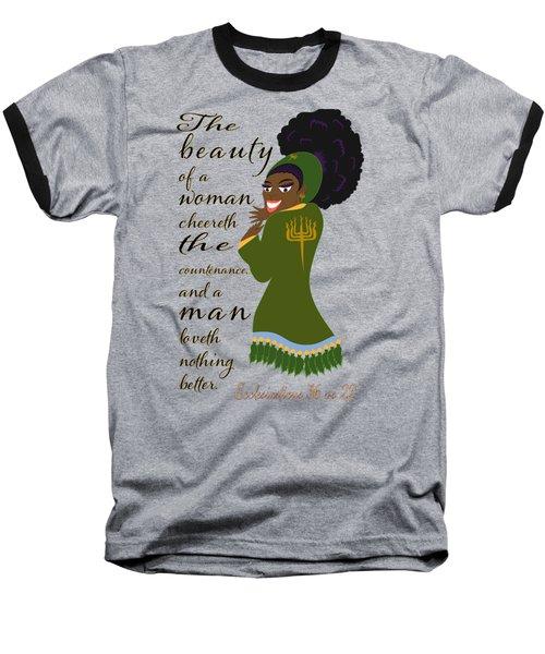 The Beauty Of A Woman Baseball T-Shirt