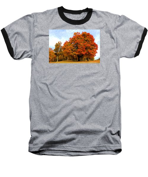 Baseball T-Shirt featuring the photograph The Beauty Of Autumn  by Michael Rucker