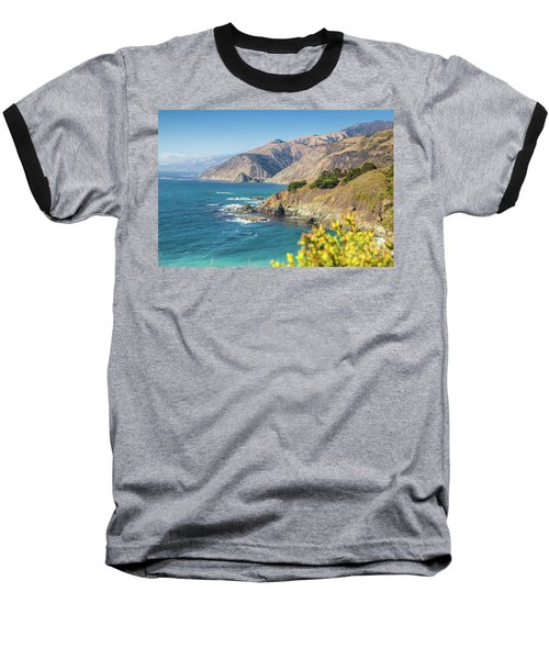The Beauty Of Big Sur Baseball T-Shirt by JR Photography