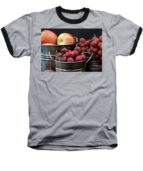 The Beauty Of Fresh Fruit Baseball T-Shirt by Sherry Hallemeier