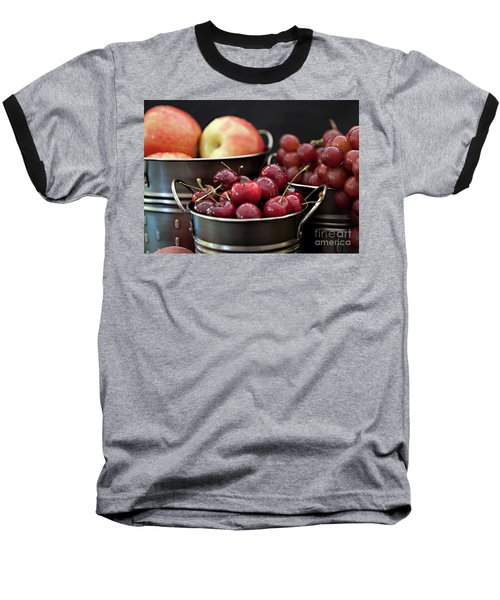 Baseball T-Shirt featuring the photograph The Beauty Of Fresh Fruit by Sherry Hallemeier
