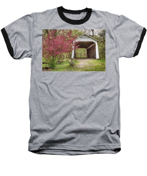 Baseball T-Shirt featuring the photograph The Beeson Covered Bridge by Harold Rau