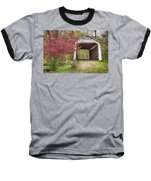 The Beeson Covered Bridge Baseball T-Shirt by Harold Rau