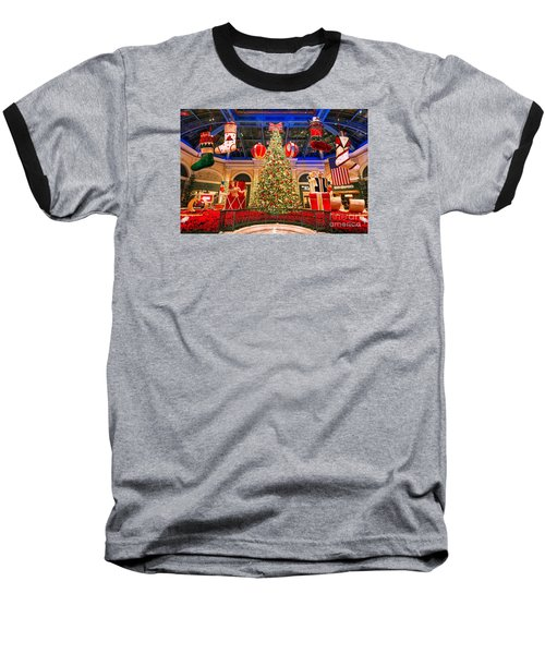 Baseball T-Shirt featuring the photograph The Bellagio Christmas Tree 2015 by Aloha Art