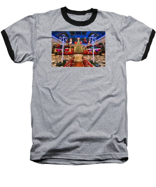 The Bellagio Christmas Tree And Decorations 2015 Baseball T-Shirt by Aloha Art
