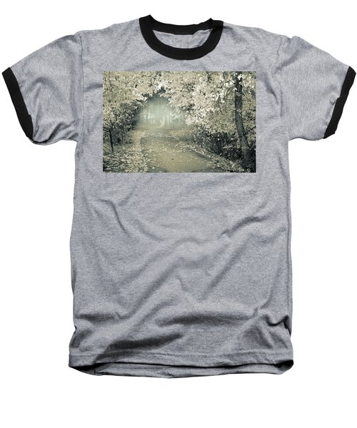 Baseball T-Shirt featuring the photograph The Bench That Waits For You by Tara Turner