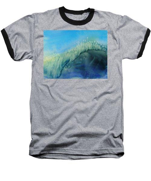 The Big Curl Baseball T-Shirt by Susan Duda