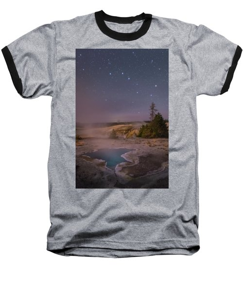 The Big Dipper In Yellowstone National Park Baseball T-Shirt