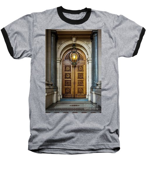 Baseball T-Shirt featuring the photograph The Big Doors by Perry Webster