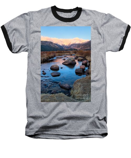 The Big Thompson River Flows Through Rocky Mountain National Par Baseball T-Shirt