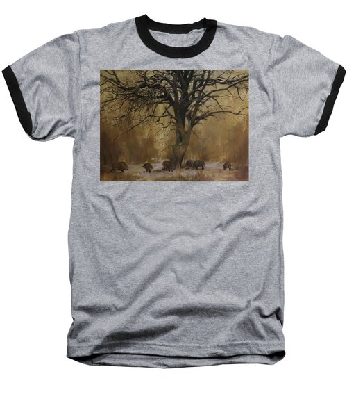 The Big Tree With Wild Boars Baseball T-Shirt