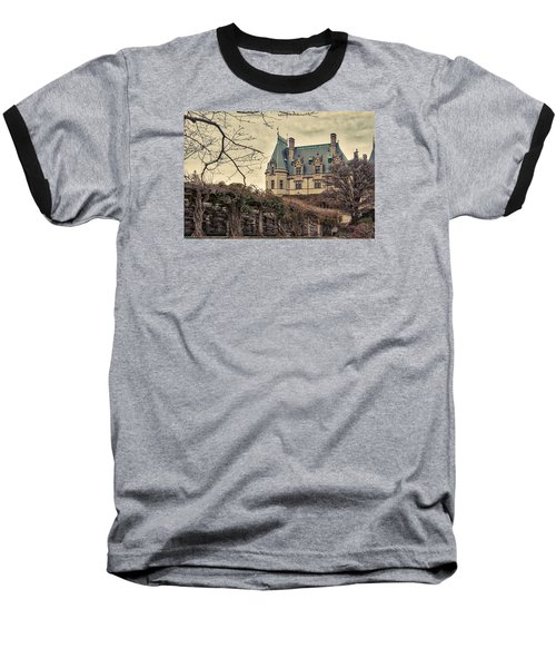 The Biltmore Mansion In The Fall Baseball T-Shirt by Robert FERD Frank