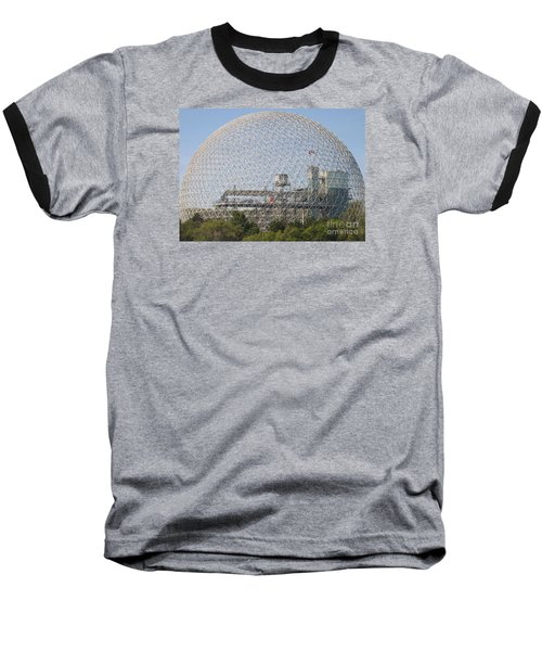 The Biosphere  Ile Sainte-helene Montreal Quebec Baseball T-Shirt by Reb Frost
