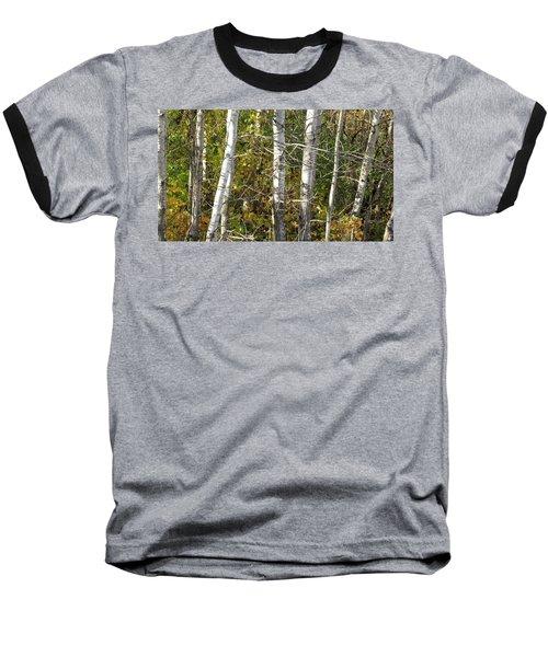 Baseball T-Shirt featuring the photograph The Birches by Kimberly Mackowski