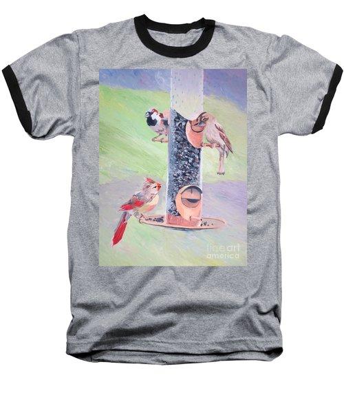 The Bird Feeder Baseball T-Shirt