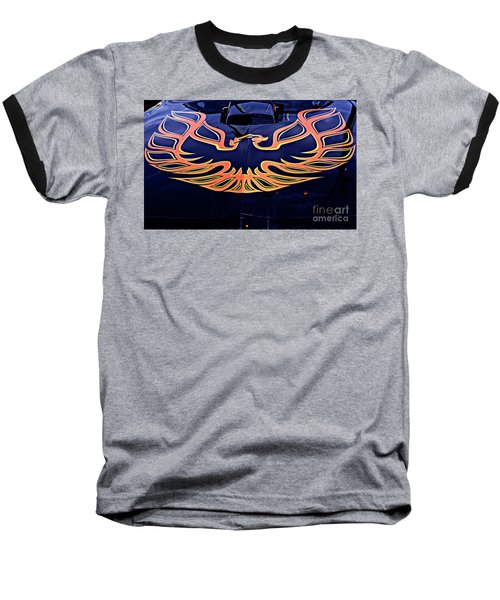 The Bird - Pontiac Trans Am Baseball T-Shirt by Jane Eleanor Nicholas