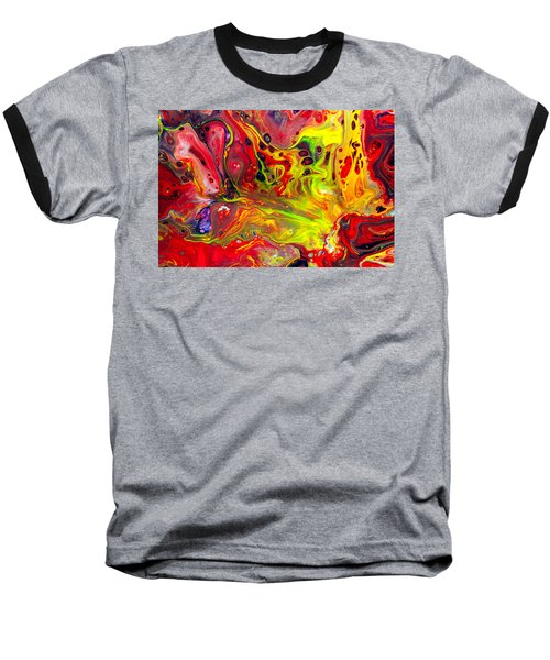 The Birth Of Diamonds - Abstract Colorful Mixed Media Painting Baseball T-Shirt