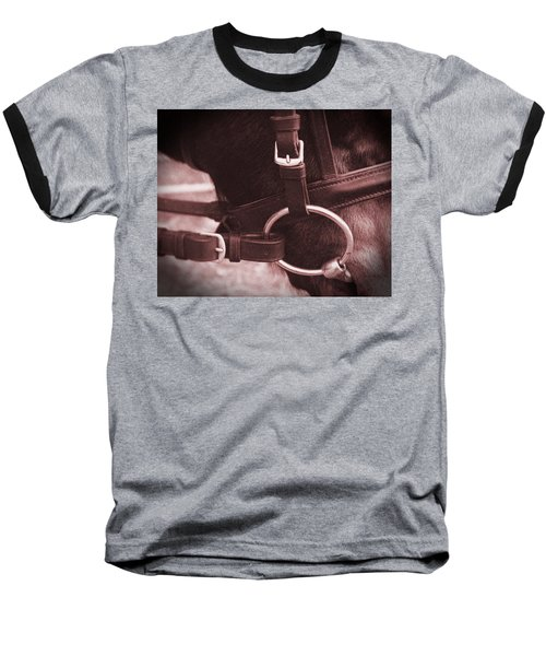 Baseball T-Shirt featuring the painting The Bit by Roena King