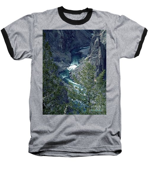 Baseball T-Shirt featuring the painting The Black Canyon Of The Gunnison by RC DeWinter