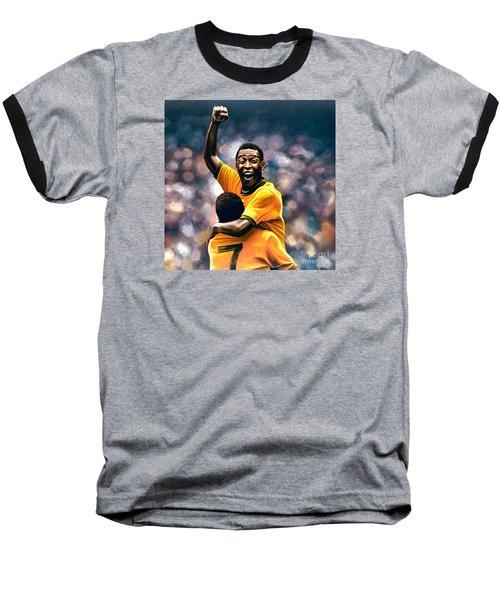 The Black Pearl Pele  Baseball T-Shirt