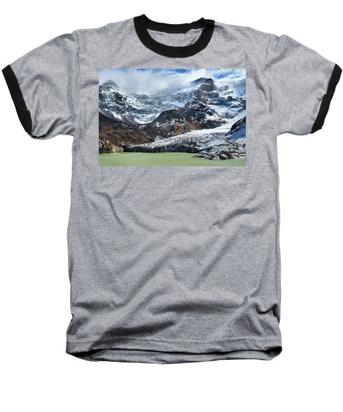 The Black Snowdrift Glacier Baseball T-Shirt