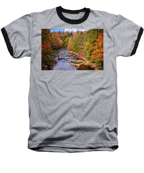The Blackwater River In Autumn Color Baseball T-Shirt