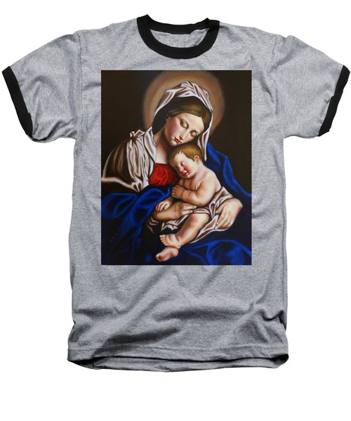 The Blessed Mother And The Infant Jesus Baseball T-Shirt