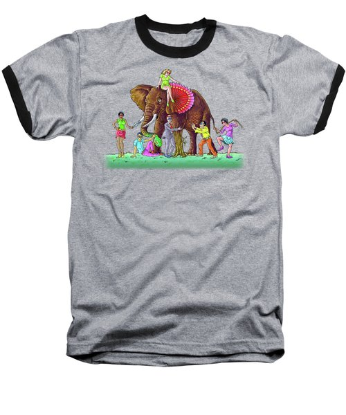 The Blind And The Elephant Baseball T-Shirt