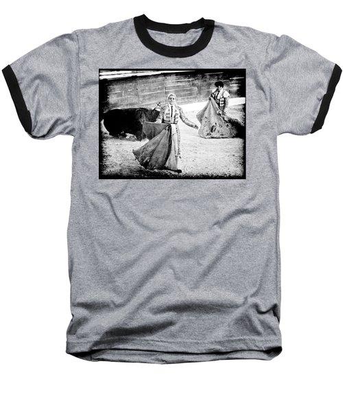 The Blond, The Bull And The Coup De Gras Bullfight Baseball T-Shirt