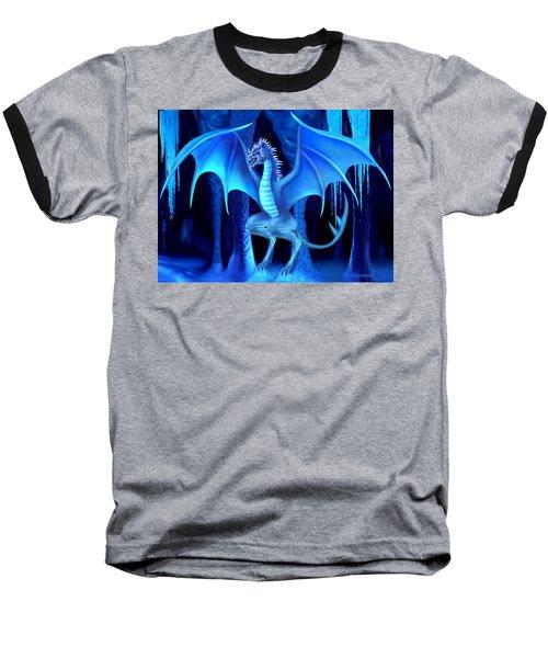 The Blue Ice Dragon Baseball T-Shirt by Glenn Holbrook