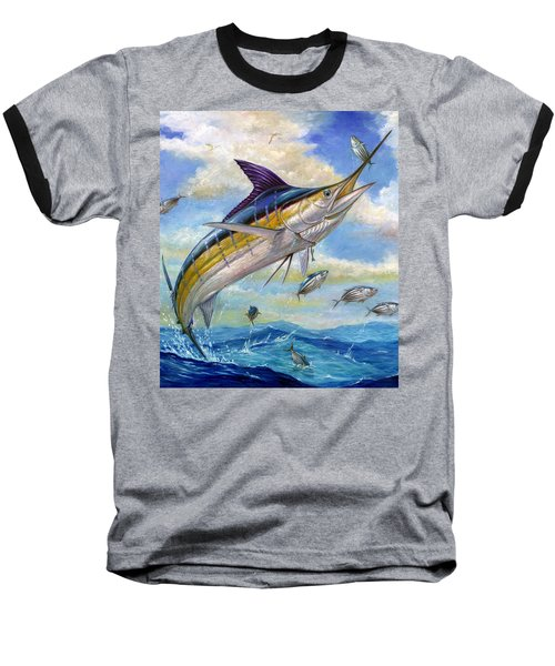 The Blue Marlin Leaping To Eat Baseball T-Shirt
