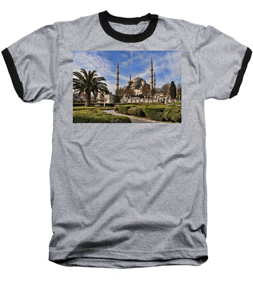 The Blue Mosque In Istanbul Turkey Baseball T-Shirt by David Smith