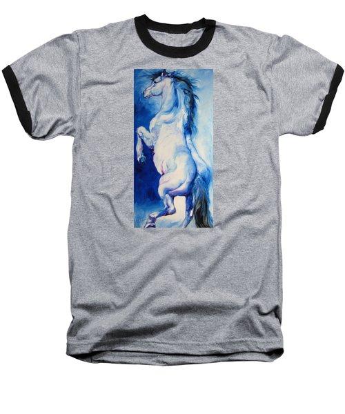 The Blue Roan Baseball T-Shirt by Marcia Baldwin