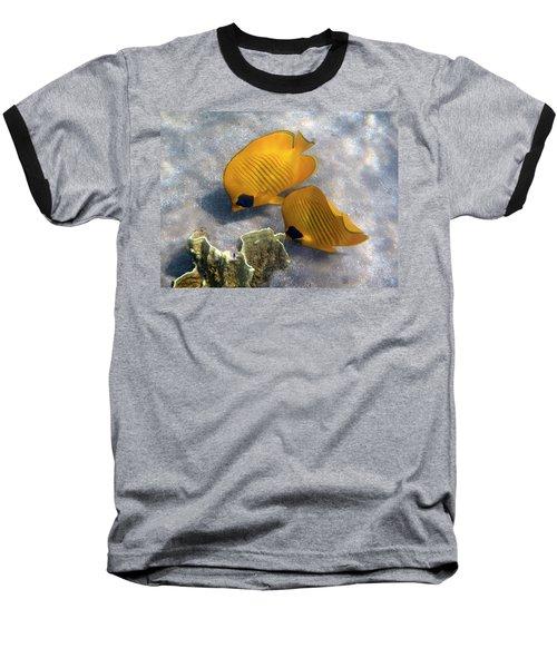 The Bluecheeked Butterflyfish Baseball T-Shirt