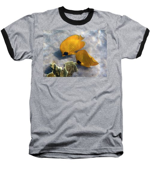 The Bluecheeked Butterflyfish Baseball T-Shirt