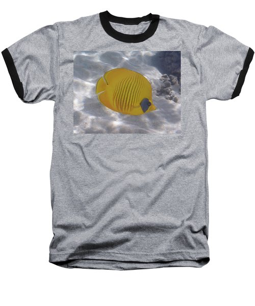 The Bluecheeked Butterflyfish Red Sea Baseball T-Shirt